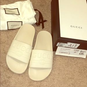 Gucci slides w/ box and dust bags